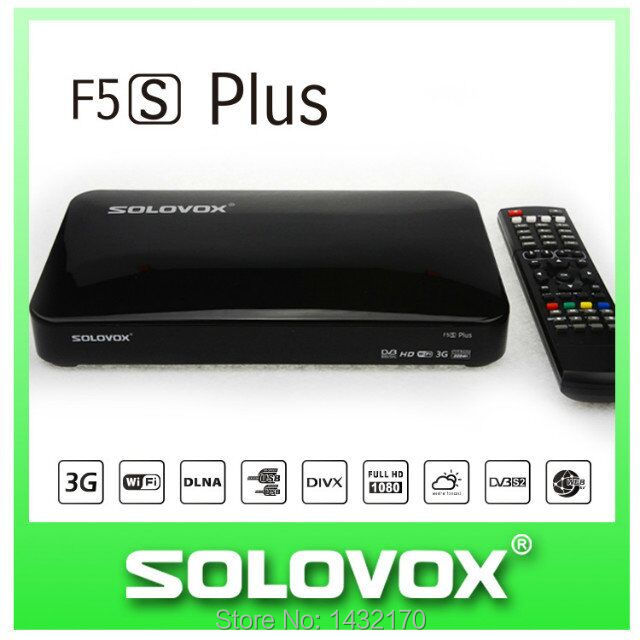 20PCS free shipping Original SOLOVOX F5S Plus 1080p Full HD Satellite Receiver DVB Support USB Youpron CCCAM/MGCAM/NEWCAM Web TV(China (Mainland))