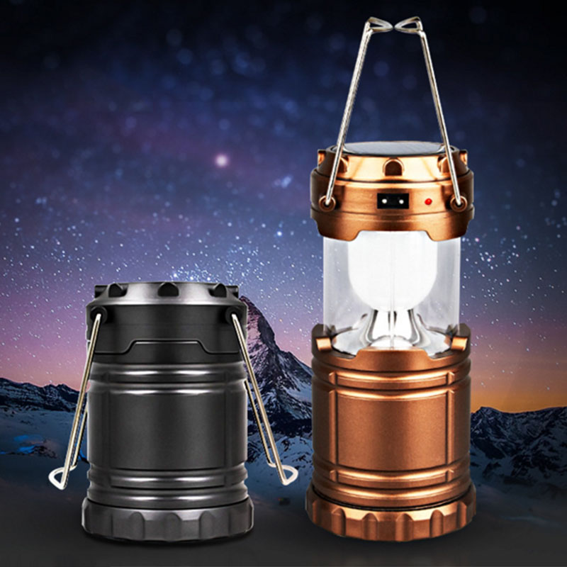 Ultra Bright Camping Lantern Solar Rechargeable LED Portable Light for Outdoor Recreation with USB Power Bank to Charge Phones(China (Mainland))