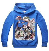 1PCS, 2015 High Quality Kids boys Jurassic World hoodies Jacket hoody shirt long sleeve Dinosaur tee sweatshirts outerwear(China (Mainland))