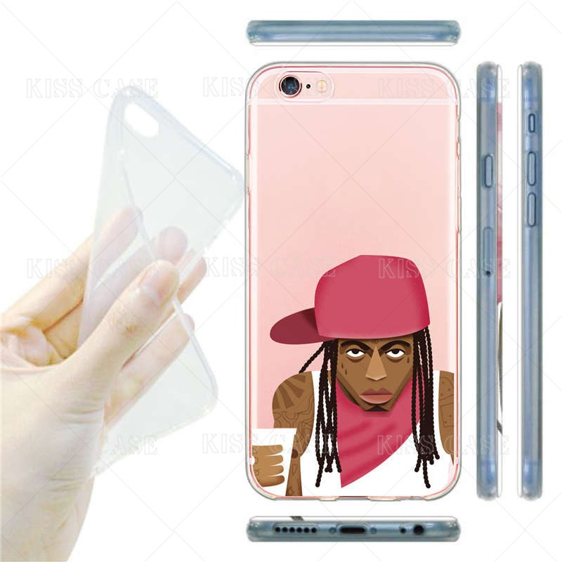 Fashion Cool Hip PoP Men Pattern Phone Cover for iPhone 6 6s Plus 5 5s se 7 Plus Soft Transparent Silicone TPU Phone Case