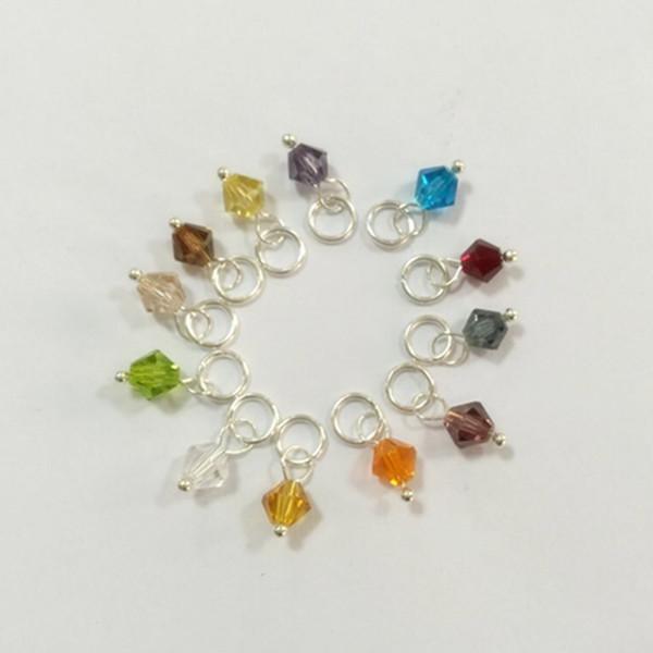 Hot Sale 12 Month Birthstone 4mm Bicones Crystal Charm Dangle for Bracelet Locket 120pcs/lot FD-012-023(China (Mainland))