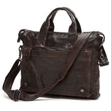 Maxdo High Quality Vintage Black / Coffee Real Genuine Leather Men Bag Briefcase Cowhide Portfolio Men Messenger Bags #M7120(China (Mainland))