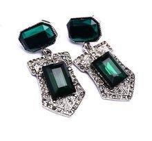 New OL women crystal Earrings Designer Luxury Fashion Simple women drop earrings vintage elegant earrings jewelry S68(China (Mainland))