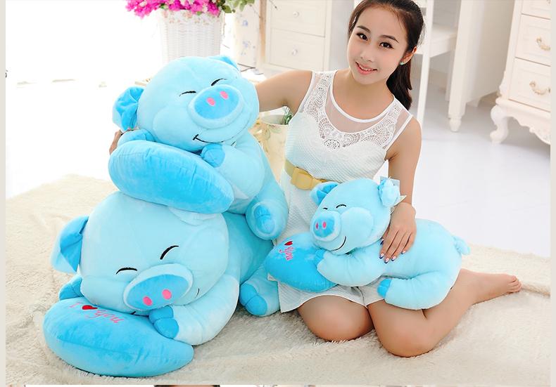 Super bonito 50 cm papai porco dormir travesseiro de pelúcia boneca de brinquedo de pelúcia, Grande porco de pelúcia , boneca travesseiro presente de aniversário(China (Mainland))
