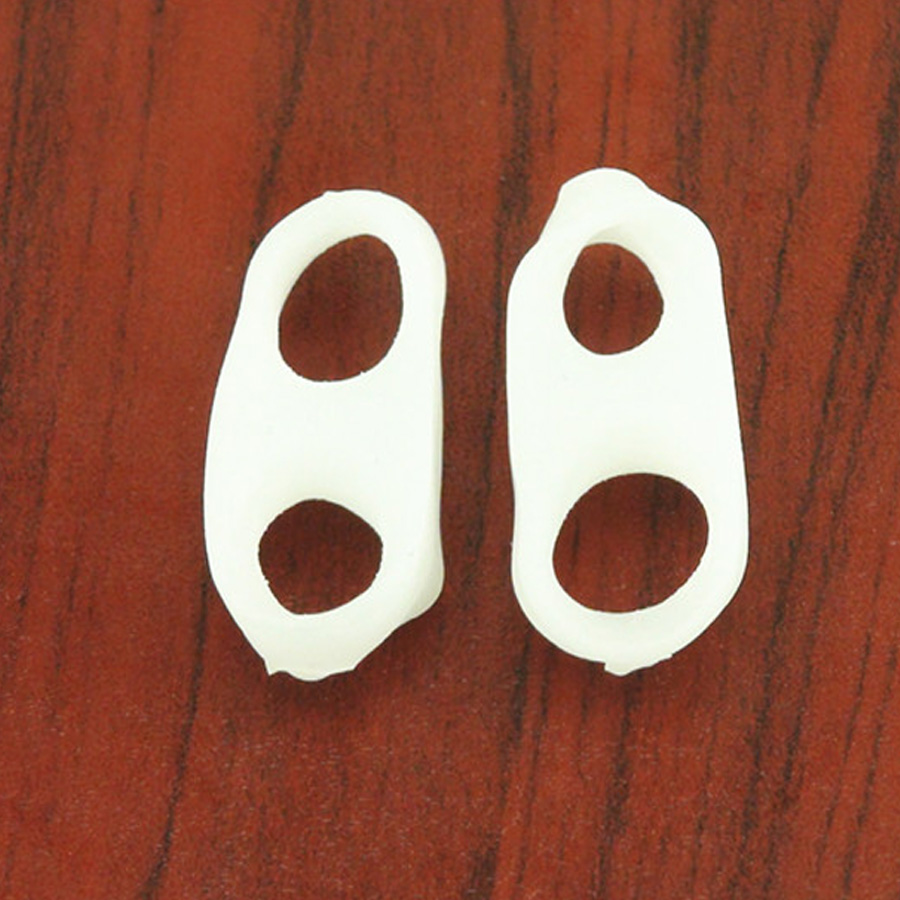 2Pcs Silicone Gel Toe Finger Separator Feet Care Braces Supports Tools Bunion Guard Foot Hallux Valgus