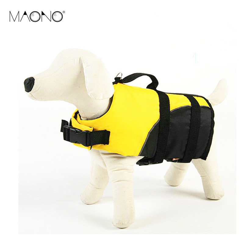 MAONO Pet Life Jacket Safety Clothes Vest Summer Dog Puppy Swimwear Beach Vacation for Surfing Swimming Hot Sale Big Discount(China (Mainland))