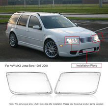 One Pair Plastic Headlight Headlamp Cover Replacement Transparent for VW MK4 Jetta Bora 1998-2004(China (Mainland))