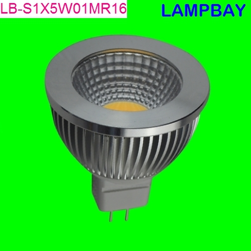 200 pieces/lot Free shipping LED COB spotlight with reflector 120 degree 5W MR16 12V high quality replace to 50W halogen lamp(China (Mainland))