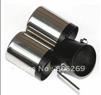 freeshipping!  Wholesale Fiat Palio caudal laryngeal / dual tail jets stainless steel rolled rectangle exhaust tip tail pipe