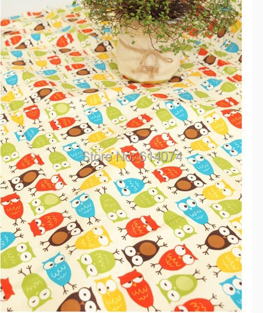 Mat47 Cute Cartoon Owl Colorful Painting 100 Cotton