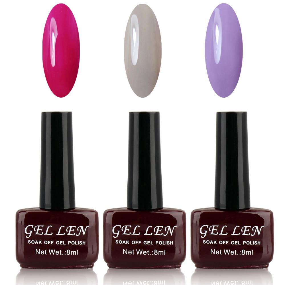 Gel Len UV Gel Nail Polish Set Wholesale Cheap Soak Off Uv