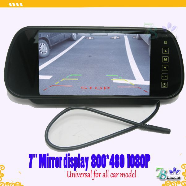 7 rear mirror display(without MP5) fit universal camera all car model ,rear view or front view parking monitor 800*480 HD image<br><br>Aliexpress