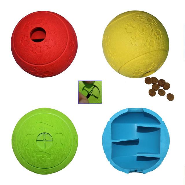 Бесплатная Доставка Прочный Высококачественной Резины Пищевой Диспенсер Собака игрушка