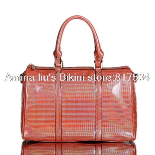 2015 New Fashion women handbag shoulder bags handbags Tote Bag Orange Laser PVC waterproof brand crossbody - Amina liu's Bikini store