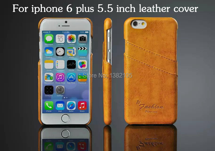 Fashion card leather Hard shell for apple iphone 6 plus cases High quality 5.5 inches cell phone case for iphone 6s cover(China (Mainland))