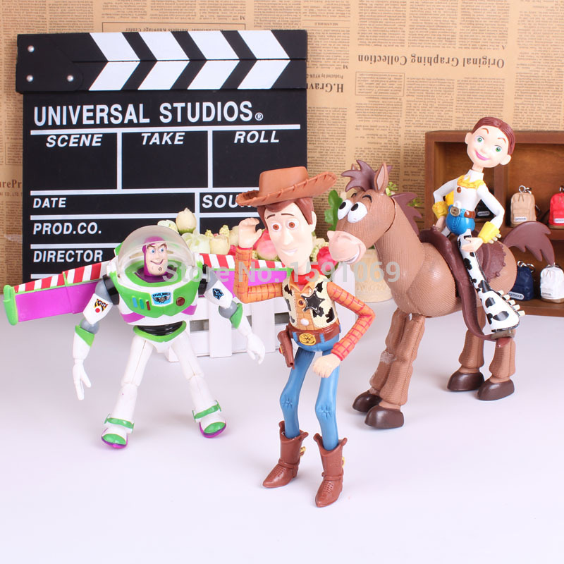 4pcs/set Toy Story 3 Buzz Lightyear Woody Jessie PVC Action Figures Toys Dolls Child Toys Free Shipping(China (Mainland))