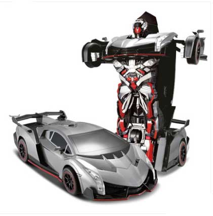 Kingtoy USB Charging RC Car Red Color Remote Control Deformed Car Robot(China (Mainland))