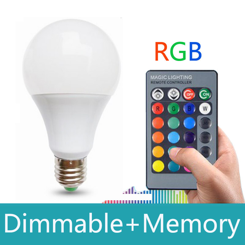LED RGB Bulb Lamp E27 AC85-265V 20W RGB LED Spot light RGB lighting+Remote Control 16 Colors Dimmable Lampada led with memory(China (Mainland))