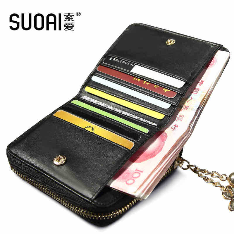 SUOAI Women Wallets Fashion Pu Short Wallet Patent Leather Ladies Purse Cute Girls Wallets Dollar Price(China (Mainland))
