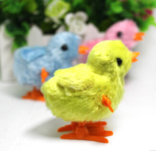 Children's educational baby chicken stuffed on the chain clockwork toys, wholesale and retail(China (Mainland))