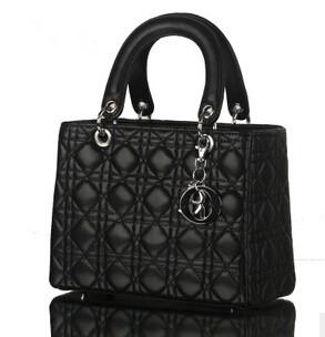 2014 New Black Pu Women Leather Handbag Plaid Bag Brand Designer Candy Color Quilted Chain Channel Trend Shoulder - women fashion bag store