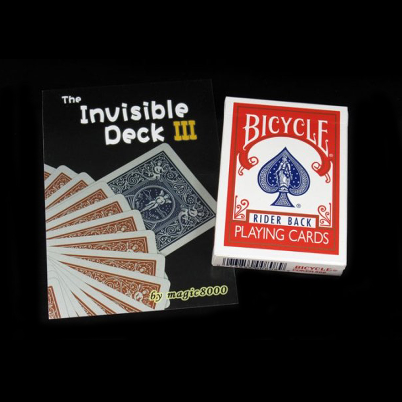 The Invisible Bicycle Deck magic tricks Cards Magic Tricks Props Toys close up magic tricks,mentalism,street,comedy 81120(China (Mainland))