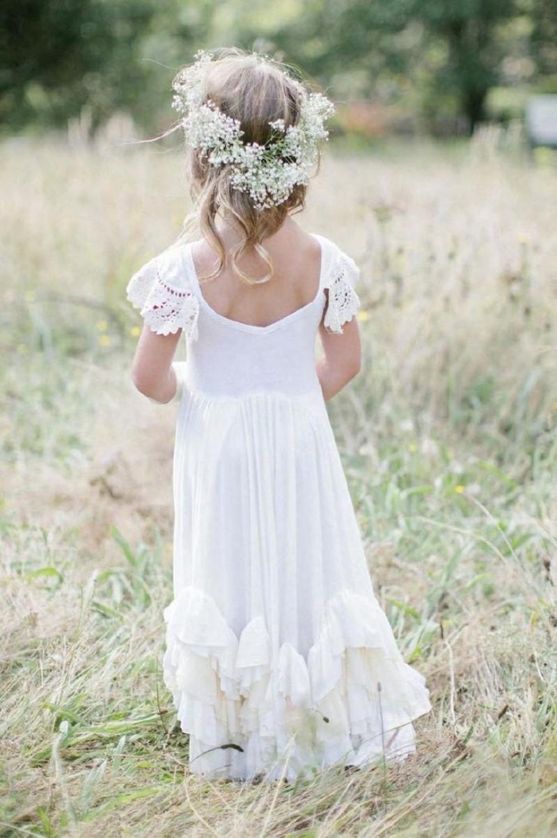 Girls Dress With Ruffles Cheap Flower Girl Dresses For Weddings