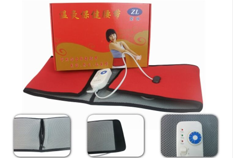 chinese medicine far infrared heating moxa therapy waist belt moxibustion treatment lumbar fat burner herniation dysmenorrhea(China (Mainland))
