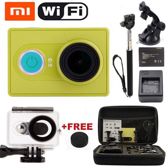 Xiaomi Yi камера wi-fi спорт камера действие камера базовые автомобиль рекордер DVR водонепроницаемый SJ 4000 5000 SJ6000 стиль + монопод