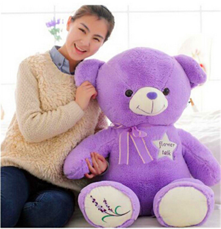 TV & Movie Character High Quality Purple Teddy Bear Plush Toys Animal Plush Dolls for Children Free Shipping Lavender Scent(China (Mainland))