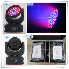 (2lot/CASE)Types of stage lights wash 36x10w led wash moving head rgbw zoom moving heads(China (Mainland))