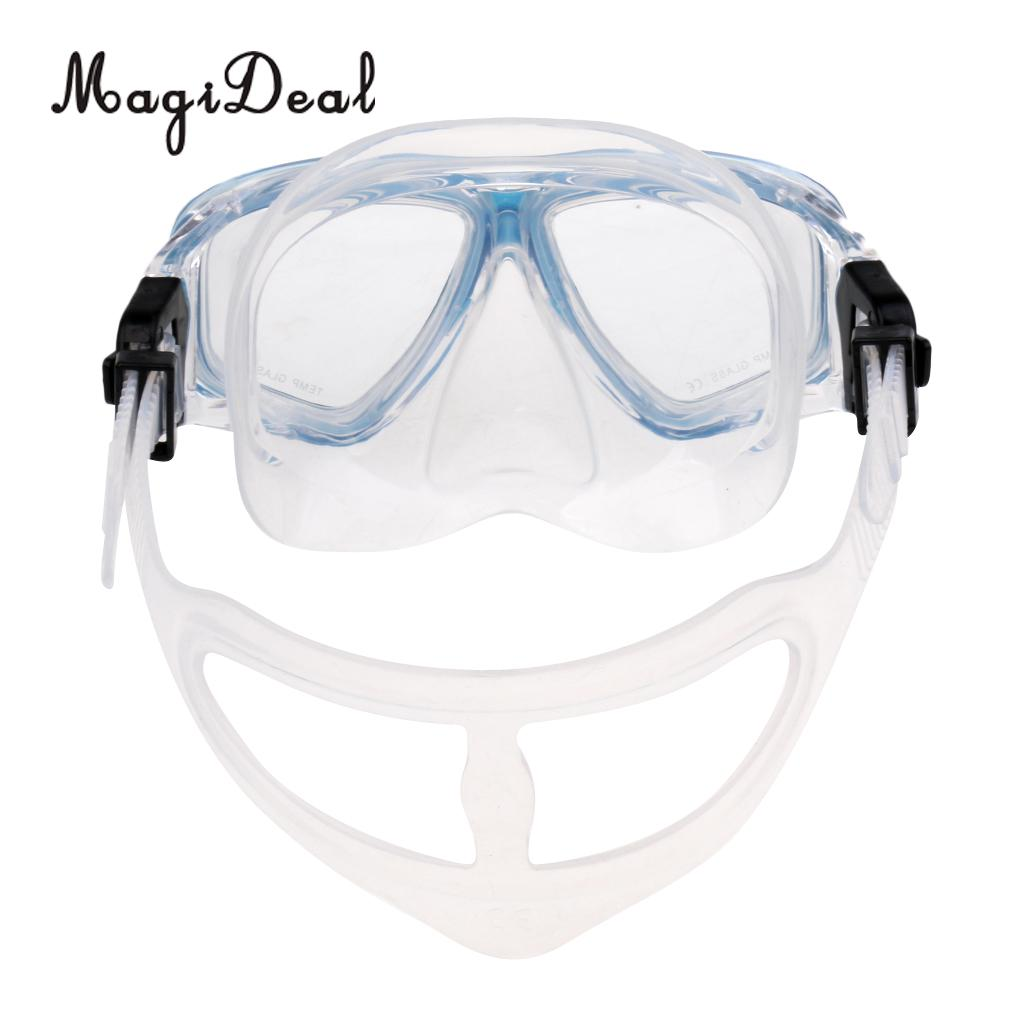 MagiDeal Adult Tempered Glass Scuba Diving Mask Anti-Fog Snorkeling Swimming Goggles