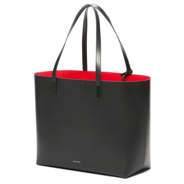2015 New Fashion Genuine Leather Bag MANSUR GAVRIEL Style Vintage Black Red Tote Bag ladies hand bags Designer Handbags(China (Mainland))