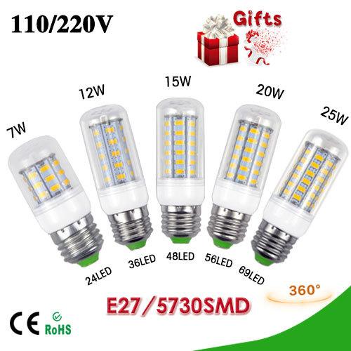 Светодиодная лампа ATK 3W 5W 7W 12W 15W 20W 25W E27 220V 5730 SMD