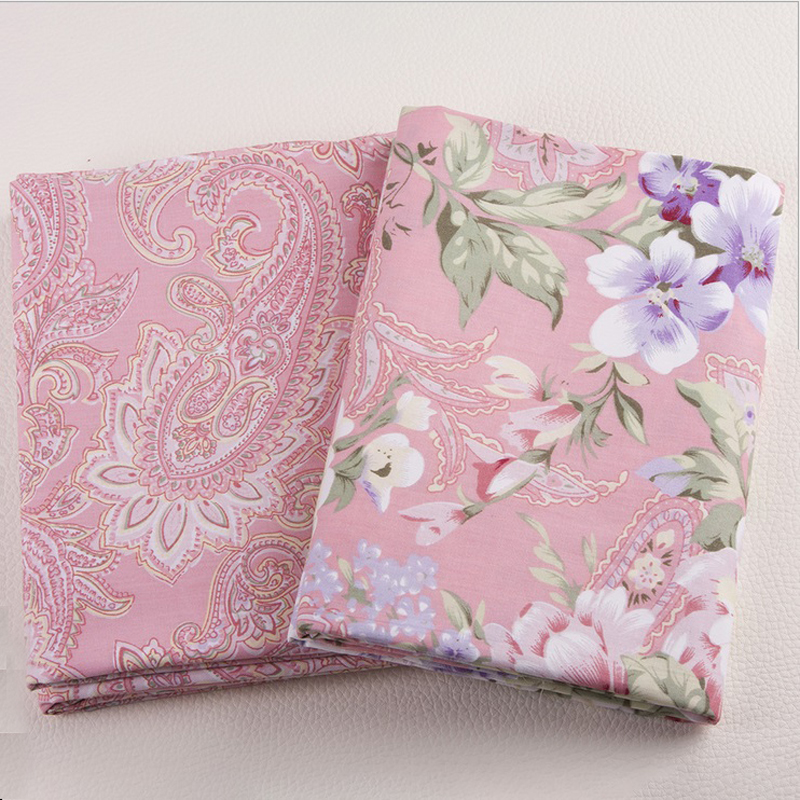 Pink Flowers Series Ab Cotton Patchwork Fabrics Retro - retro home decor fabric by the yard