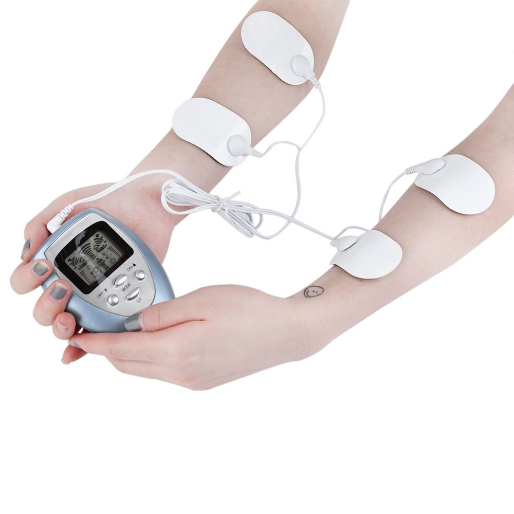 Electric 4 Pads Portable Design Slimming Full Body Plastic Massager Kit Slim Pulse Muscle Relax Fat Burner Hot Selling(China (Mainland))