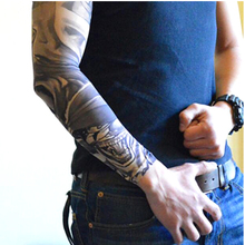 Fashion Simulation Tattoo Arm Warmers Cycling ANTI-UV Venda Quente Oversleeve with Applique Sunproof Arm sleeve 1 Piece(China (Mainland))