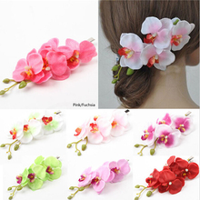 Cheap&High Quality Women's Butterfly Orchid Flower Hair Clip Barrette Pin Bridal Wedding Party(China (Mainland))