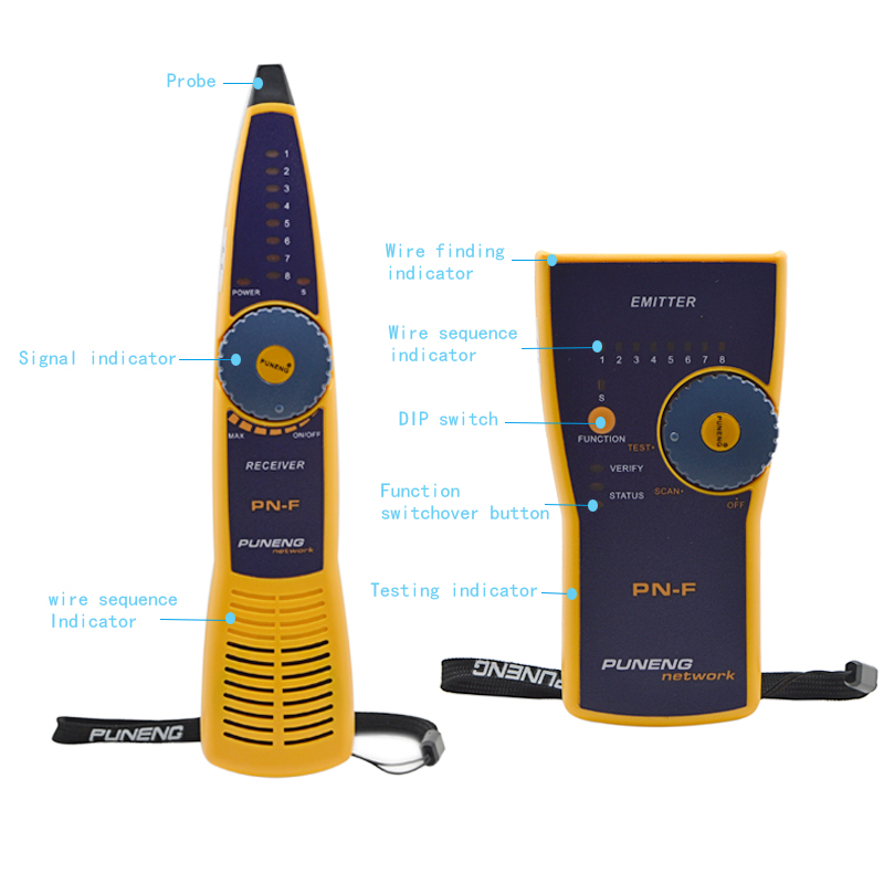 Original PuNeng Cat5 Cat6 RJ45 UTP STP Line Finder Telephone Wire Tracker Diagnose Tone Tool Kit LAN Network Cable Tester(China (Mainland))