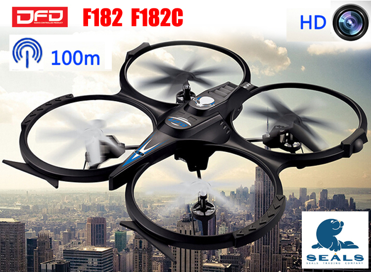 RC Drone with HD Camera 2.4G 4CH 6-Axis Large Remote Control Helicopter JJRC DFD F182 RC Quadcopter Huge Dron vs JJRC H9C(China (Mainland))