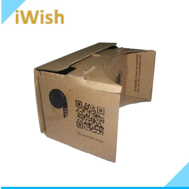 "High Quality DIY Google Cardboard VR Mobile Phone 3D Glasses For 5.0"" Screen Google VR 3D Glass(China (Mainland))"