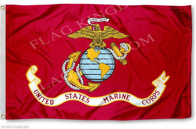 US Marines USMC Seal Flag 3x5 Banner(China (Mainland))