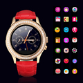 2016Luxury Women Bluetooth Smart Watch Diamond CrystalDial Leather Smartwatch W8For Android IOS Watch CallSync Intelligent Clock