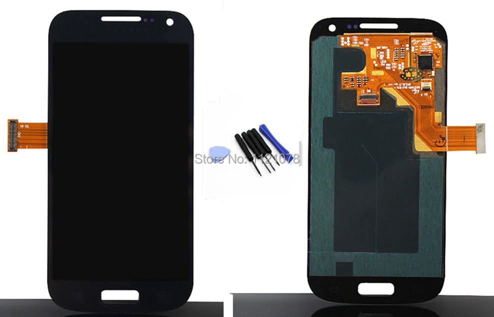 New for Samsung Galaxy S4 Mini i9195 i9190 i9192 LCD display touch screen assembly with free tools , free shipping! dark blue
