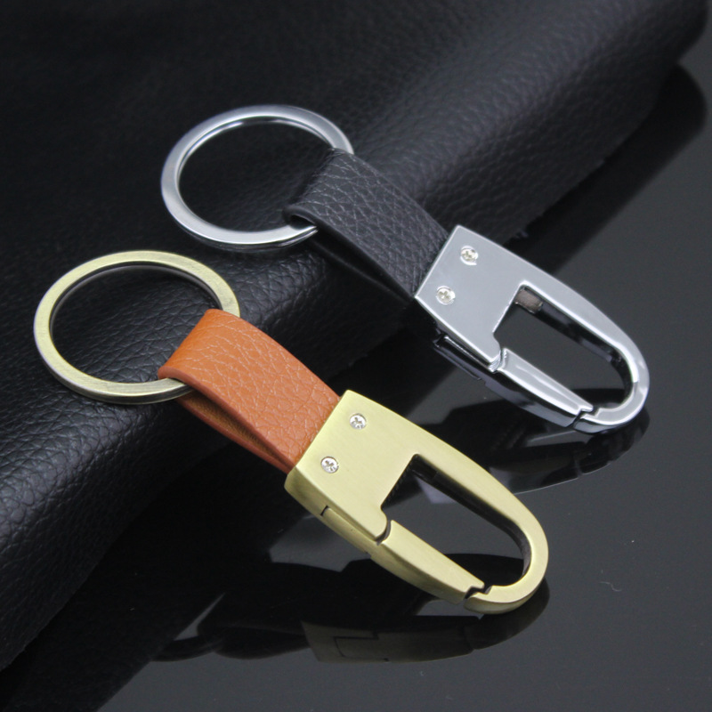 leather Car Key Gifts Customized Manufacturers Spot Wholesale Business Car Keychain Parking Car Accessories Custom Logo(China (Mainland))
