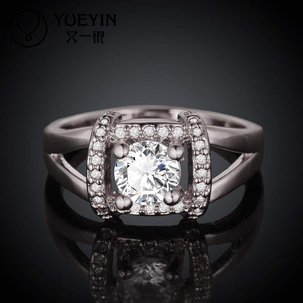 R046-A 2015 Hot Fashion Jewelry Queen Rings 18K Gold/ Platinum/Rose Plated Micro AAA Swiss Cubic Zircon Classic Ring For Women(China (Mainland))