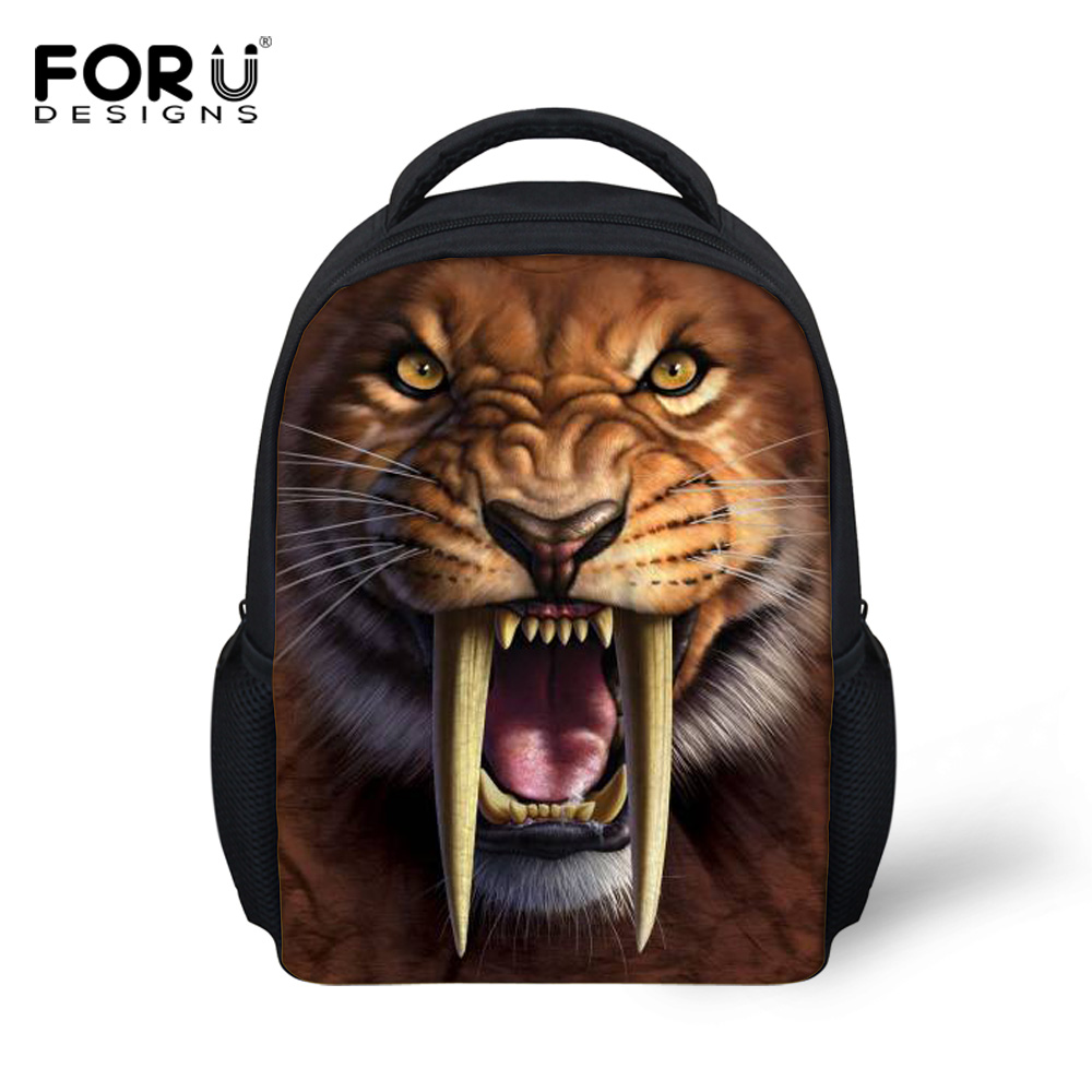 12 Inch Small Kids Animal Smilodon Backpack,Cool Boys Saber-Toothed Tiger Printing Backpacks,Children Mini School Bags Bag - KIDS FOR YOU,CO.,LTD store