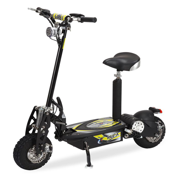Free shipping 48v 1500w high quality folding cheap 2 wheel for Folding motorized scooter for adults