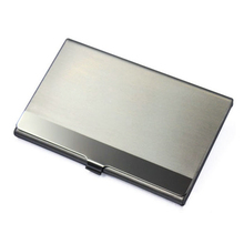 Vogue Stainless Steel Silver Aluminium Business ID Name Credit Card Holder Case Free Shipping L09407