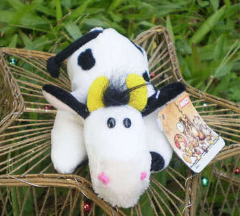 Lovely NICI Black Spots Cows Fridge Magnet Stuffed animal plush toys SNF33